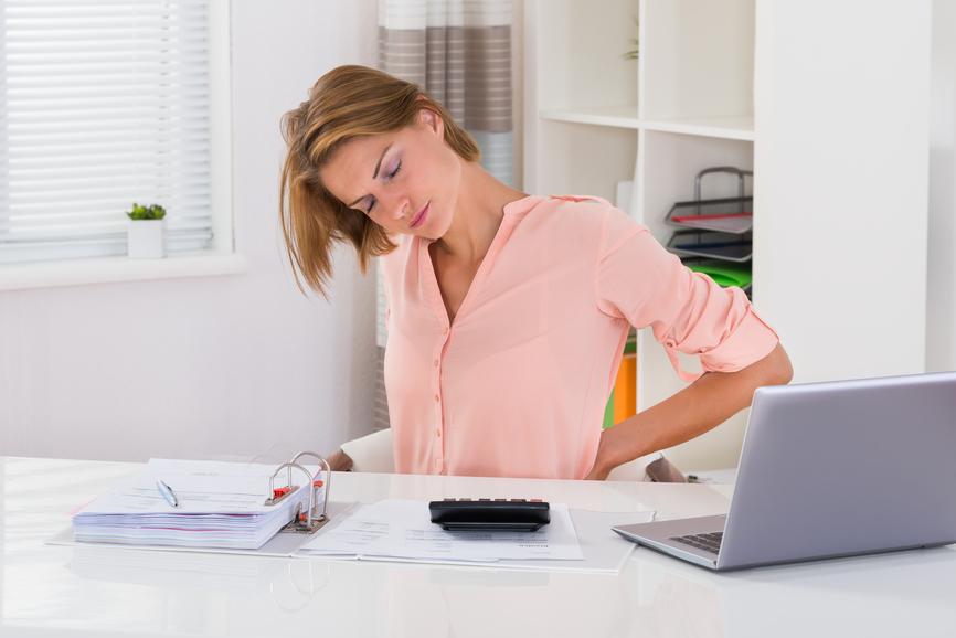 Rückenschmerzen am Arbeitsplatz